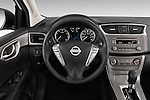 Car pictures of steering wheel view of a2014 Nissan Sentra SV 4 Door Sedan Steering Wheel