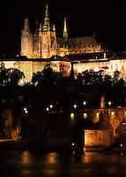 Karlsbruecke (Karlov Most), Hradschin, Prag, Tschechien, Unesco-Weltkulturerbe