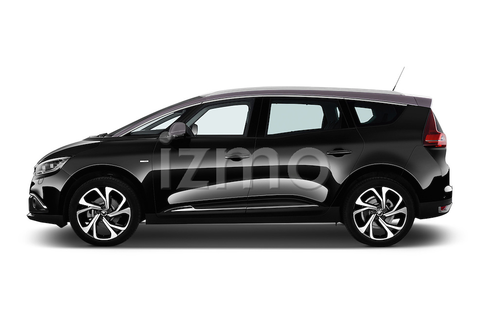 Car Driver side profile view of a 2017 Renault Grand-Scenic Bose-Edition 5 Door Minivan Side View