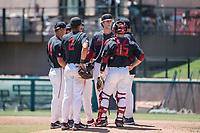 STANFORD, CA - MAY 29: Quinn Mathews, Adam Crampton, Drew Bowser, Kody Huff during a game between Oregon State University and Stanford Baseball at Sunken Diamond on May 29, 2021 in Stanford, California.