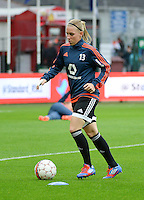20151007 - LIEGE , BELGIUM : Frankfurt's Marith Priessen pictured during the female soccer match between STANDARD Femina de Liege and 1. FFC Frankfurt , in the 1/16 final ( round of 32 ) first leg in the UEFA Women's Champions League 2015 in stade Maurice Dufrasne - Sclessin in Liege. Wednesday 7 October 2015 . PHOTO DAVID CATRY
