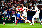 Diego Costa of Atletico de Madrid (L) fights for the ball with Ruben Semedo of SD Huesca (R) during the La Liga  2018-19 match between Atletico de Madrid and SD Huesca at Wanda Metropolitano Stadium on September 25 2018 in Madrid, Spain. Photo by Diego Souto / Power Sport Images