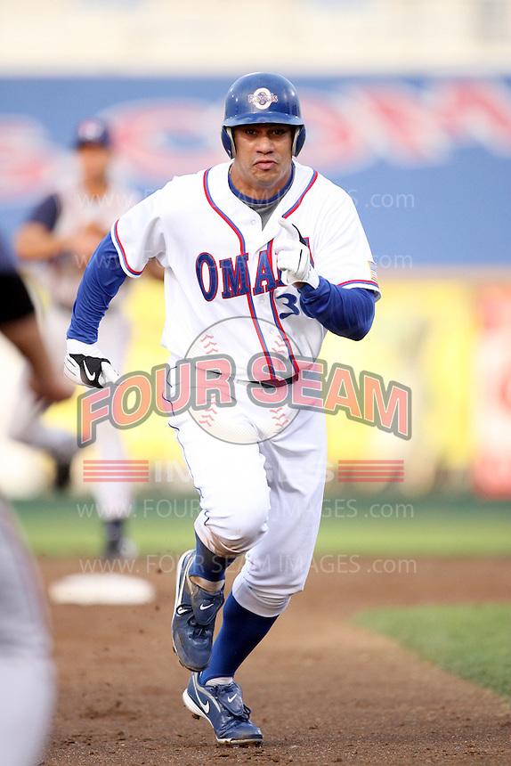 June 2, 2009: Kila Ka'aihue (30) of the Omaha Royals at Rosenblatt Stadium in Omaha, NE.  Photo by: Chris Proctor/Four Seam Images
