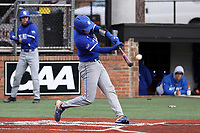 ELON, NC - FEBRUARY 28: Grant Magill #5 of Indiana State University hits the ball during a game between Indiana State and Elon at Walter C. Latham Park on February 28, 2020 in Elon, North Carolina.