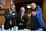 © Joel Goodman - 07973 332324 - all rights reserved . No onward sale/supply/syndication permitted . 28/07/2016 . Manchester , UK . RYAN GIGGS talking with the architects at the launch of the St Michael's city centre development , at the Lord Mayor's Parlour in Manchester Town Hall . Backed by The Jackson's Row Development Partnership (comprising Gary Neville , Ryan Giggs and Brendan Flood ) along with Manchester City Council , Rowsley Ltd and Beijing Construction and Engineering Group International , the Jackson's Row area of the city centre will be redeveloped with a design proposed by Make Architects . Photo credit : Joel Goodman