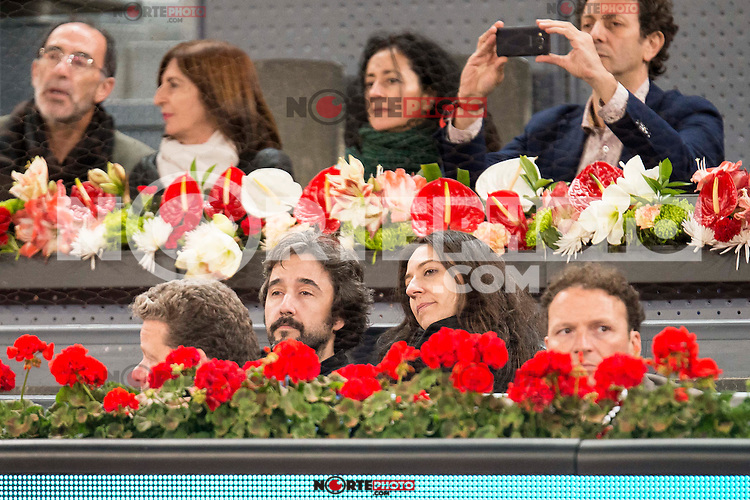 Diego Guerrero and his wife during ATP Semi-Finals Mutua Madrid Open Tennis 2016 in Madrid, May 07, 2016. (ALTERPHOTOS/BorjaB.Hojas) /NortePhoto.com