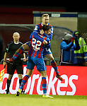 Billy McKay celebrates his goal for Inverness
