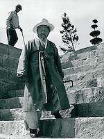 Koreaner in traditioneller Kleidung, Korea 1986