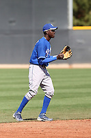 Orlando Calixte #31 of the Kansas City Royals plays in a minor league spring training game against the Texas Rangers at the Rangers minor league complex, on March 22, 2011  in Surprise, Arizona. .Photo by:  Bill Mitchell/Four Seam Images.