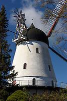 Windmühle in Gudhjem auf der Insel Bornholm, Dänemark, Europa<br /> windmill in Gudhjem, Isle of Bornholm Denmark