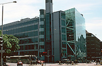 London:  New unidentified Office Building at Northern approach to Tower Bridge.  Photo 2005.