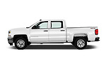 Car Driver side profile view of a 2016 Chevrolet Silverado 1500 LS 4 Door Pickup Side View