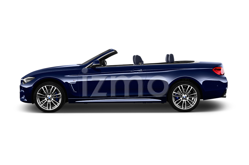Car driver side profile view of a 2018 BMW 4 Series M Sport 2 Door Convertible