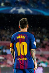 Lionel Andres Messi of FC Barcelona reacts during the UEFA Champions League 2017-18 match between FC Barcelona and Olympiacos FC at Camp Nou on 18 October 2017 in Barcelona, Spain. Photo by Vicens Gimenez / Power Sport Images