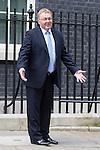 © Joel Goodman - 07973 332324 . 11/05/2015 . London , UK . DAVID MUNDELL leaves 10 Downing Street this afternoon (11th May 2015) . Photo credit : Joel Goodman