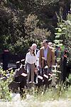 "Prince Felipe and Princess Letizia of Spain visit ""Sierra de Guadarrama"" recenty designated ""National Park"" in Madrid, Spain. July 10, 2013. (Victor J Blanco/Alterphotos)"