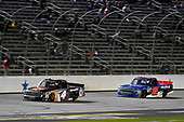 #4: Todd Gilliland, Kyle Busch Motorsports, Toyota Tundra JBL/SiriusXM and #52: Stewart Friesen, Halmar Friesen Racing, Chevrolet Silverado We Build America