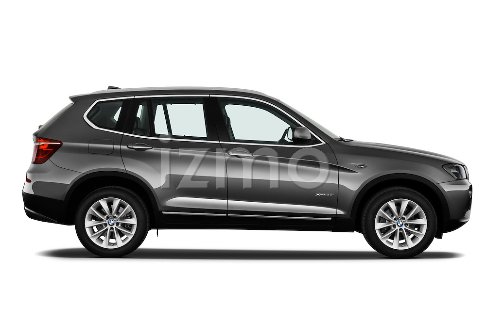passenger side profile view of a 2011 BMW x3 xDrive35i SUV