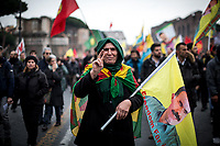 17.02.2018 - Rome: Defend Afrin – Freedom For Ocalan & Justice For Kurdistan, National Demo