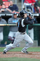 Syracuse Chiefs shortstop Chris McConnell #2 at bat during a game against the Buffalo Bisons at Dunn Tire Park on April 7, 2011 in Buffalo, New York.  Syracuse defeated Buffalo 8-5.  Photo By Mike Janes/Four Seam Images
