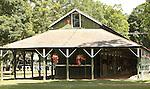 August 17, 2014: Barn in the backstretch barns at Saratoga Racetrack. Sue Kawczynski/ESW/CSM