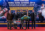 Official Draw of the 2014 Cathay Pacific / HSBC Hong Kong Sevens on February 11, 2014 at Confucius Hall Secondary School in Hong Kong, China SAR. Photo by Andy Jones / Power Sport Images
