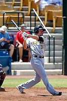 Brad Hawpe #31 of the Salt Lake Bees bats against the Las Vegas 51s at Cashman Field on May 27, 2013 in Las Vegas, Nevada. Las Vegas defeated Salt Lake, 9-7. (Larry Goren/Four Seam Images)