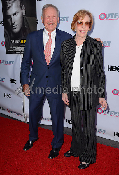 """11 July 2015 - West Hollywood, California - Tab Hunetr, Carol Burnett. Arrivals for the 2015 Outfest Los Angeles LGBT Film Festival screening of """"Tab Hunter Confidential"""" held at The DGA Theater. Photo Credit: Birdie Thompson/AdMedia"""