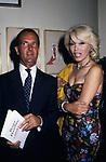 CARLO BUOZZI E AMANDA LEAR<br /> FESTA ENRICO COVERI AL TOULA'<br /> MILANO 1989