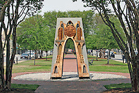 911 memorial in public park on North Palafox Street Pensacola Florida