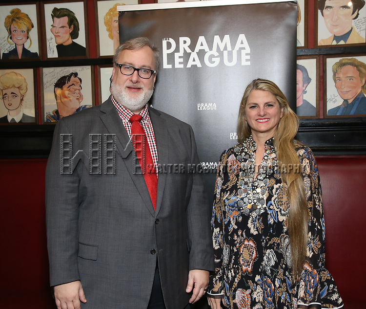 Gabriel Stelian-Shanks and Bonnie Comley attends the 2019 Drama League Nominees Announcement at Sardi's on April 17, 2019 in New York City.