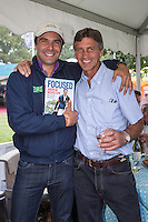 FAN SHOTS: BRA-Ruy Fonseca with NZL-Andrew Nicholson BOOK LAUNCH - FOCUSED: Published by The Racing Post: 2014 GBR-Land Rover Burghley Horse Trial (Friday 5 September) CREDIT: Libby Law COPYRIGHT: LIBBY LAW PHOTOGRAPHY - NZL