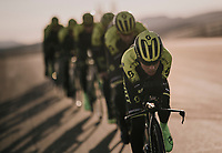 TTT training at the Circuito de Almeria Fans with Esteban Chavez (COL/Michelton-Scott) at the front<br /> <br /> Michelton-Scott training camp in Almeria, Spain<br /> february 2018