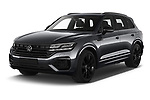 2021 Volkswagen Touareg R 5 Door SUV Angular Front automotive stock photos of front three quarter view