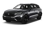 2021 Volkswagen Touareg R 5 Door SUV Angular Front automotive stock photos of front three quarter view