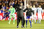 Deportivo Alaves' coach Mauricio Pellegrino (c) and Gaizka Toquero celebrate the victory in the Spanish Kings Cup semifinal. February 08,2017. (ALTERPHOTOS/Acero)