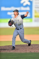 Columbia Fireflies pitcher Taylor Henry (22) delivers a pitch during game one of a double header against the Asheville Tourists at McCormick Field on August 4, 2018 in Asheville, North Carolina. The Tourists defeated the Fireflies 5-1. (Tony Farlow/Four Seam Images)