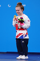 26th August 2021; Tokyo, Japan; SUMMERS-NEWTON Maisie (GBR),  Swimming : <br /> Women's 200m Individual Medley SM6 Medal Ceremony during the Tokyo 2020 Paralympic Games at the Tokyo Aquatics Centre in Tokyo, Japan.
