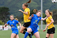 Ellen Fibbes of Capital Capital competes for the ball with Samantha Murrell of Southern the Handa Women's Premiership - Capital Football v Southern United at Petone Memorial Park, Wellington on Saturday 7 November 2020.<br /> Copyright photo: Masanori Udagawa /  www.photosport.nz