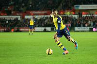 Sunday 09 November 2014 <br /> Kieran Gibbs of Arsenal<br /> Barclays Premier League, Swansea City FC v Arsenal City at the Liberty Stadium, Swansea, Great Britain.