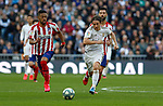 Real Madrid CF's Luka Modric and Atletico de Madrid's Renan Lodi competes for the ball during La Liga match. Feb 01, 2020. (ALTERPHOTOS/Manu R.B.)