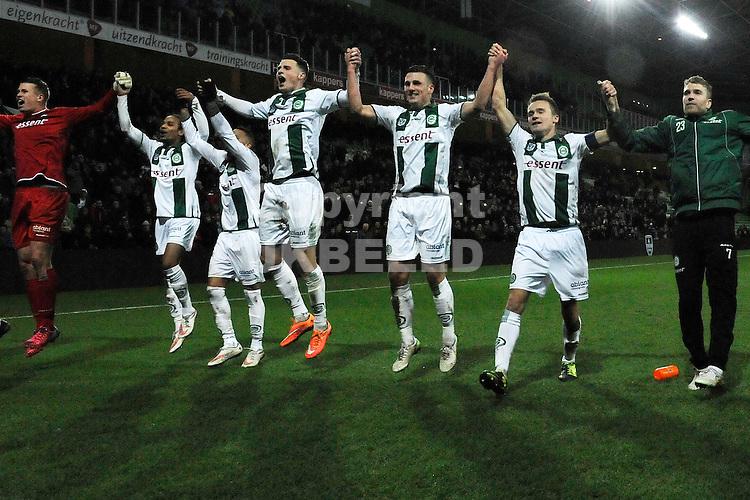 GRONINGEN - Voetbal, FC Groningen - Vitesse, KNVB beker, Euroborg, seizoen 2014-2015, 28-01-2015,  Groningen viert de zege