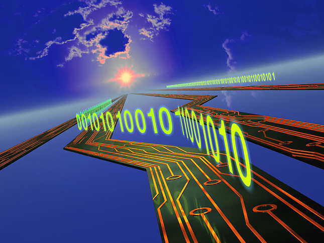 Data flowing on circuitry highway