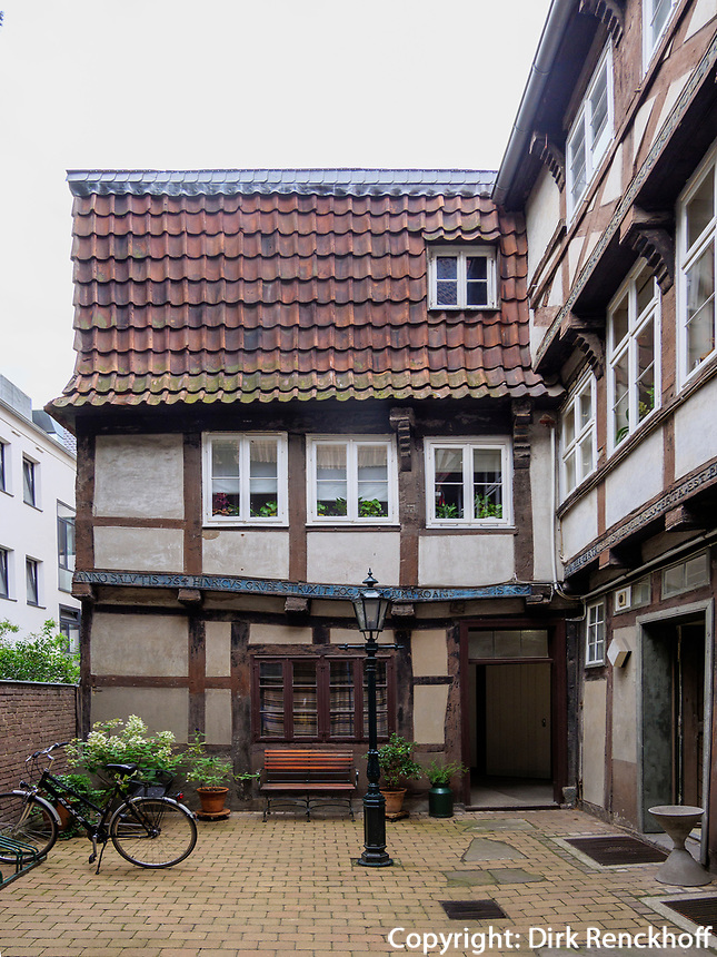 Hinterhaus von Burgstr. 12,  Ältestes Haus von Hannover, Niedersachsen, Deutschland, Europa<br /> rear house of 12 Burg St., oldest hpous in Hanover, Lower Saxony, Germany, Europe