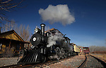 The Nevada State Railroad Museum runs the annual Santa Train with Locomotive No. 25 in Carson City, Nev., on Sunday, Dec. 1, 2013. The engine, built in 1905, was initially purchased by the Virginia & Truckee Railroad for passenger service between Reno and Virginia City. (Cathleen Allison/Las Vegas Review-Journal)