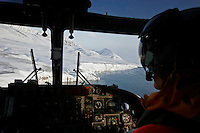 Air operations with a Westland Lynx helicopter.<br /> <br /> Coastguard vessel KV Svalbard patrols the northermost waters of Norway, including around the islands that she is named after. The main task is inspecting fishing boats, but she also performs search and rescue missions, and environmental monitoring.<br /> <br /> The Arctic island of Spitsbergen is the largest of islands in the group that makes up Svalbard. The islands are close to the North Pole and about 60% of the land mass is covered by glaciers. The main activities are mining, tourism and Arctic research.
