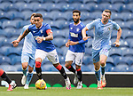 25.07.2020 Rangers v Coventry City: James Tavernier drives the ball out of defence