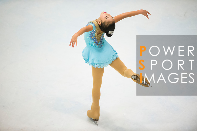 Yi Xuan Ding competes during the Asian Junior Figure Skating Challenge 2015 on October 07, 2015 in Hong Kong, China. Photo by Aitor Alcalde/ Power Sport Images