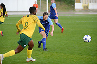 20190227 - LARNACA , CYPRUS : Finnish defender Katarina Naumanen pictured during a women's soccer game between the South African Banyana Banyana and Finland , on Wednesday 27 February 2019 at the GSZ Stadium in Larnaca , Cyprus . This is the first game in group A for both teams during the Cyprus Womens Cup 2019 , a prestigious women soccer tournament as a preparation on the Uefa Women's Euro 2021 qualification duels and the Fifa World Cup France 2019. PHOTO SPORTPIX.BE | STIJN AUDOOREN