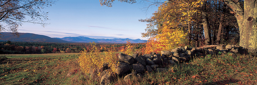 A fall day at a old farm on Moultonborough Neck, near Lake Winipesaukee, New Hampshire. Photograph by Peter E. Randall.